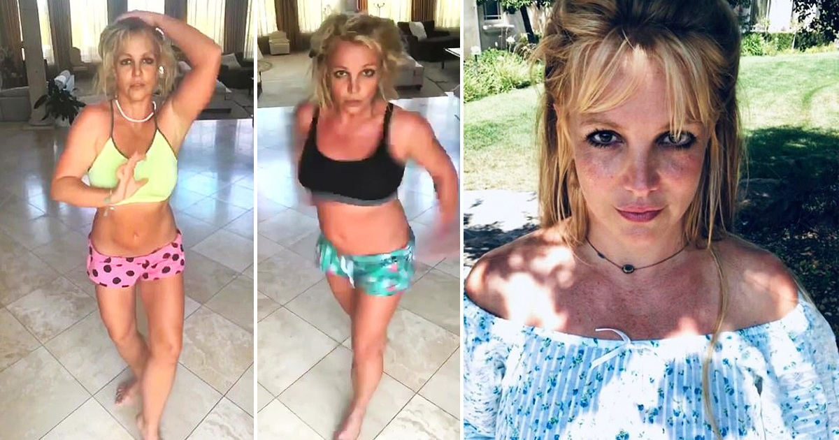 Britney Spears Dances Barefoot In Two Midriff-Baring Outfits In Instagram Video
