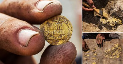 Teenagers Found An Extremely Rare Trove Of 425 Gold Coins From 1,100 Years Ago