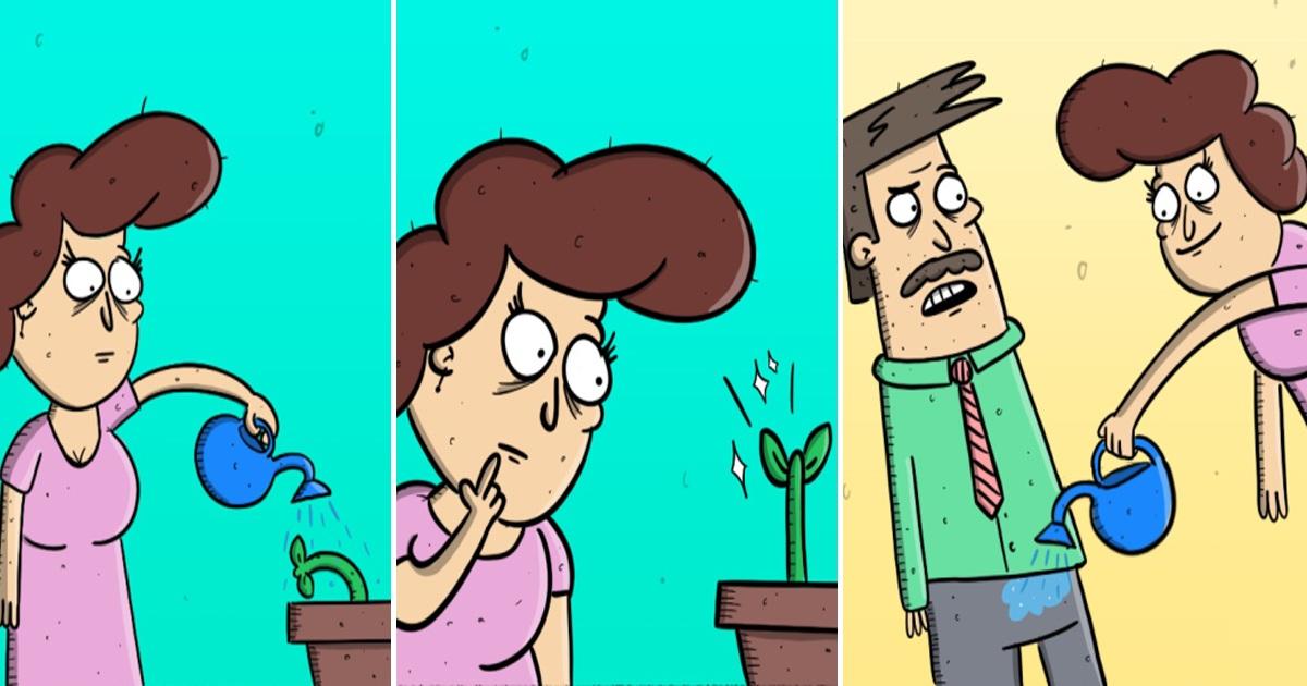 Artist's 30 Dark Comics That Always Come With Hilarious Twist