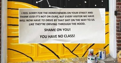Woman Receives Nasty Letter From Neighbor Who Claims Her Garage Has 'Devalued' The Area