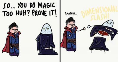 Artist Draws 30 Most Hilarious Endings With Crossovers For 'Harry Potter Villain'