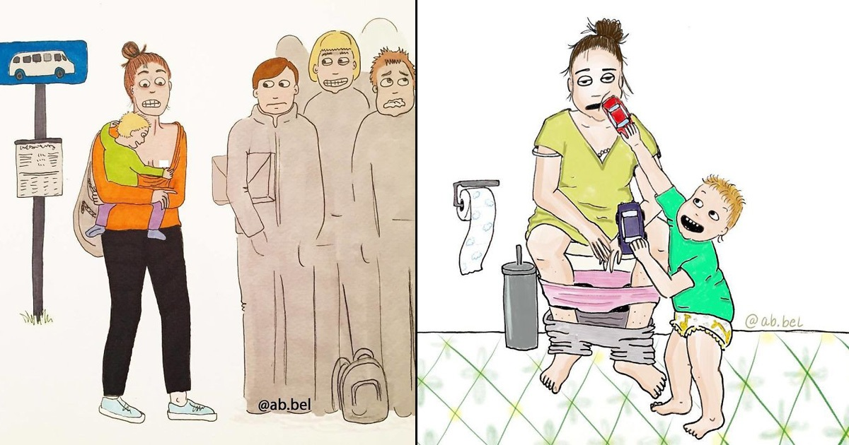 Mom's 30 Funny Illustrations Show What Motherhood Really Looks Like