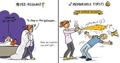 Artist's 17 Hilarious Comics About Motherhood That Are Super Relatable