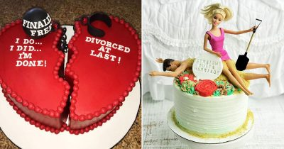 Women Show Off Their Divorce Cake To Celebrate Being Single Again!