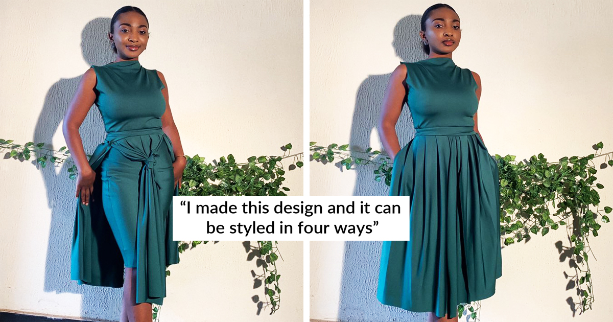 Woman Designs Stunning Dresses That Can Be Styled In Four Ways