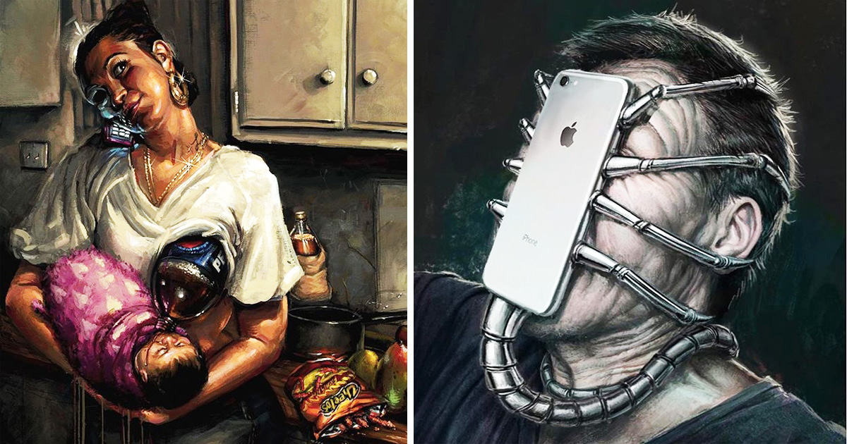 17 Illustrations Show Today's Weird Life Since Modern Technology Arrived