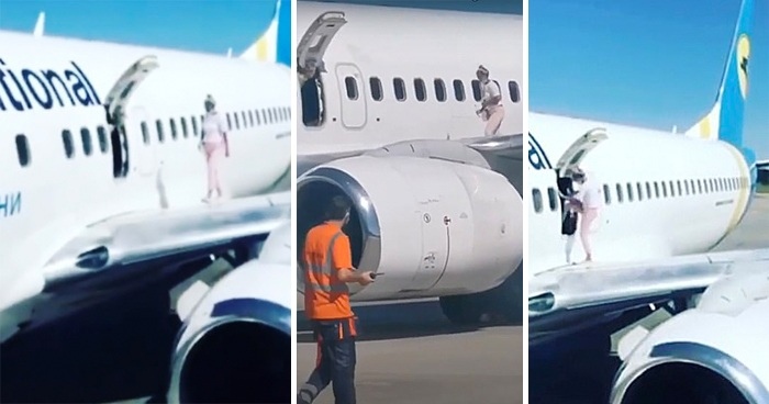 Woman Opens Plane Emergency Exit And Walks On The Wing Because She Was 'Too Hot'
