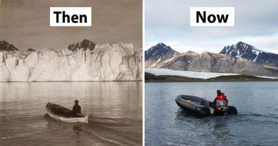 7 Then & Now Pics Of Arctic Glaciers Show The Damage Of 100 Years Of Climate Change