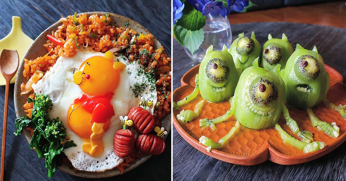 This Japanese Mom Makes Super Creative Meals For Her Kids Everyday