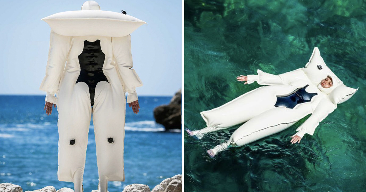 Spanish Designer Confused People With His Floating Pillow For Sun Allergy