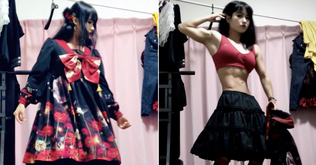 Gothic Lolita Fashion Lover Stuns People With Ripped Body Under Her Outfit
