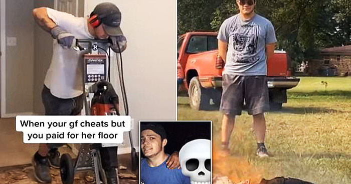 Guy Ripped Up Cheating Girlfriend's $2K Floorboards With A Power Drill