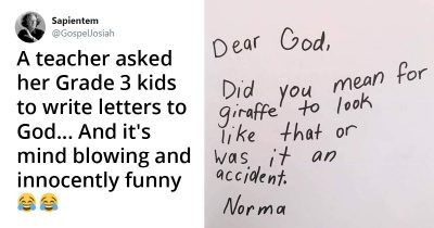 Teacher Asked Her Grade 3 Kids To Write Letters To God, And it's Hilariously Innocent