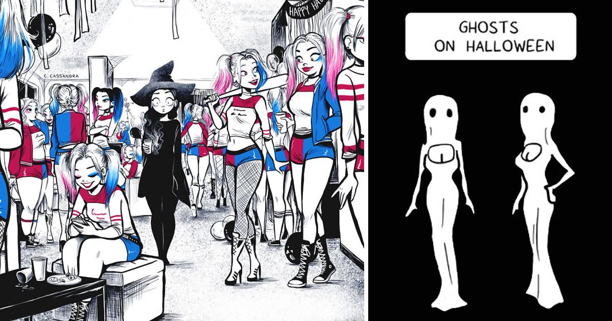 40 Hilarious Halloween Comics With Spooky Twists