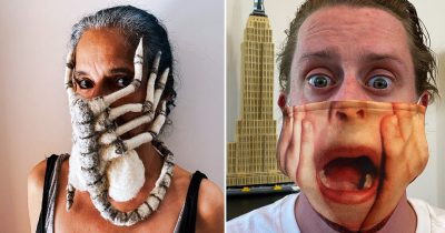 30 Creatively Scary Masks People Made For Halloween