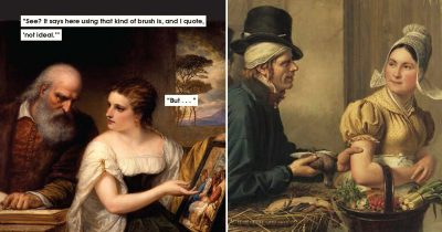 Woman Turns Classical Paintings Into Jokes To Show What Types Of Men Are Toxic