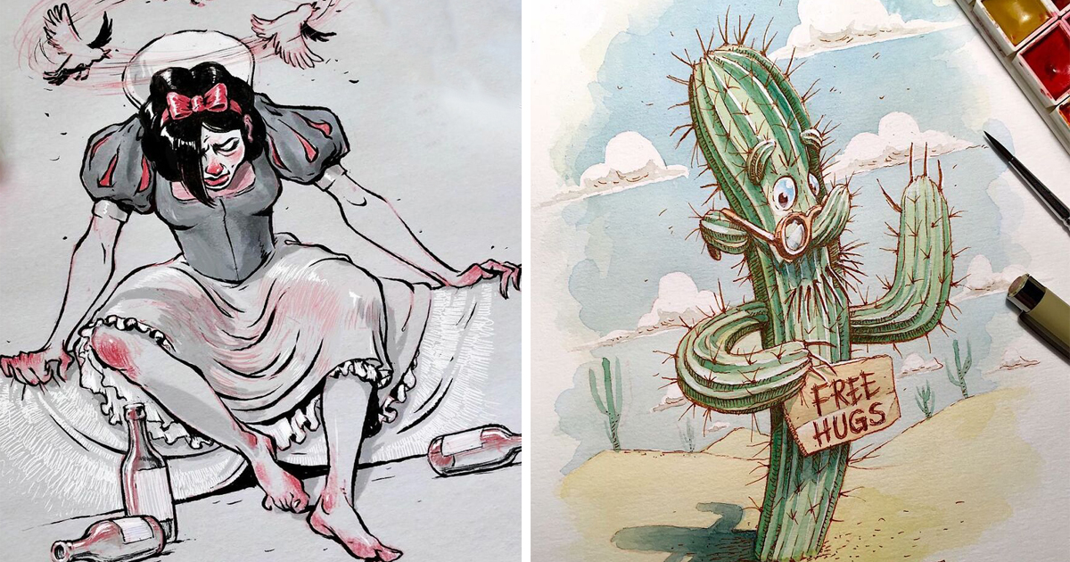 Artist Draws 30 Illustrations With Dark Humor And Spooky Subjects