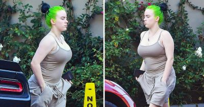Billie Eilish Spotted Without Her Trademark Baggy Clothes In LA