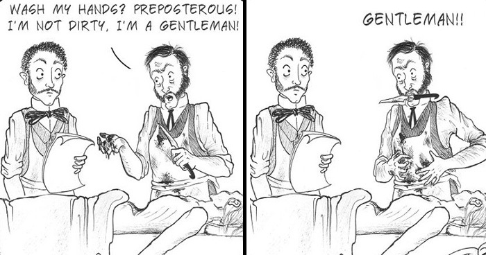 Artist's 23 Dark Comics Draw Gruesome And Quirky Facts About Victorian Era