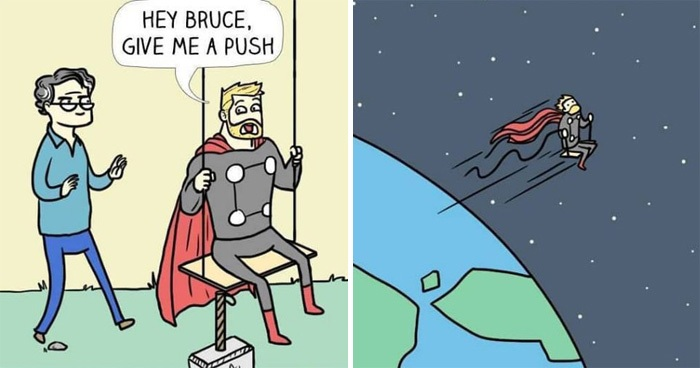 30 Dark Humor Comics With Unexpected Endings By 'Spaceboy'