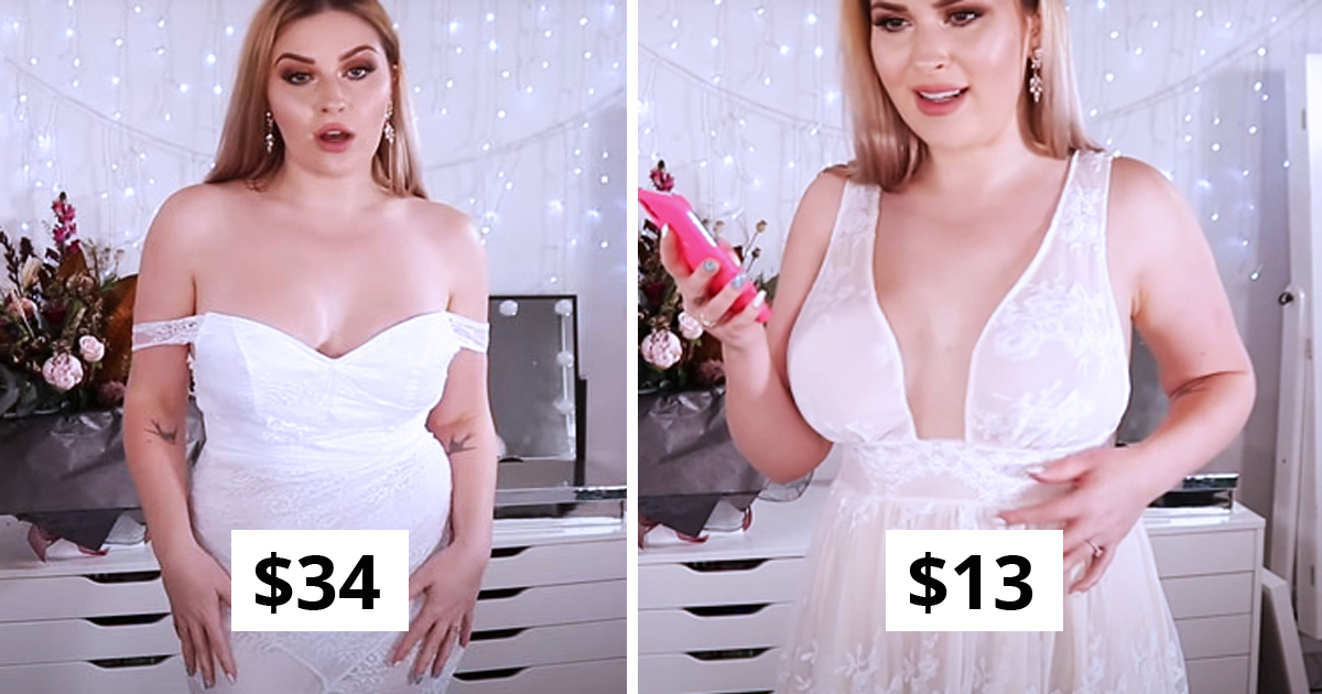 Woman Orders 10 Wedding Dresses Online To Shows The Reality And Expectations