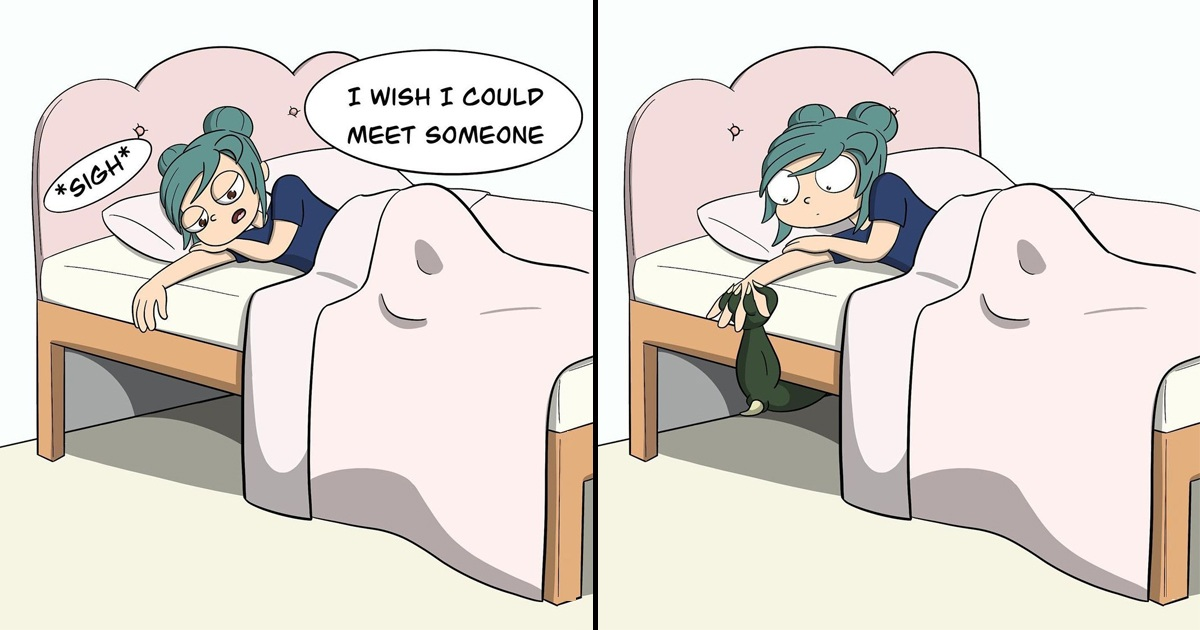 30 Hilarious Comics About The Silly And Awkward Life Of A Certain Bi-Girl