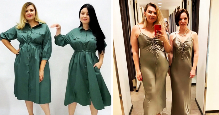Woman Joined Hands With Slim Friends To Compare XL And XS Clothes