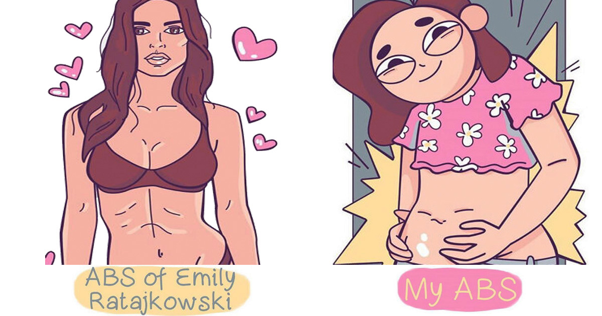 21 Hilarious Comics Drawn By An Artist Who Compared Her Life To Celebs'