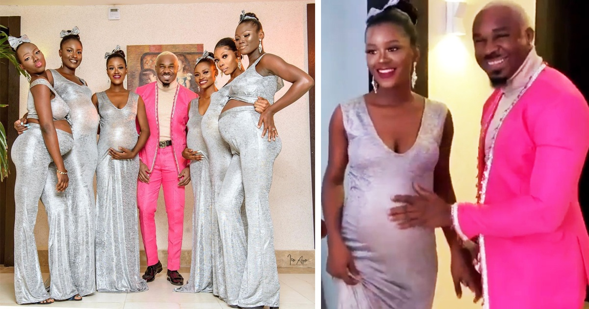 Nigerian Man Rocks Up To Wedding With Six Pregnant Women Who Are All Carrying His Kids