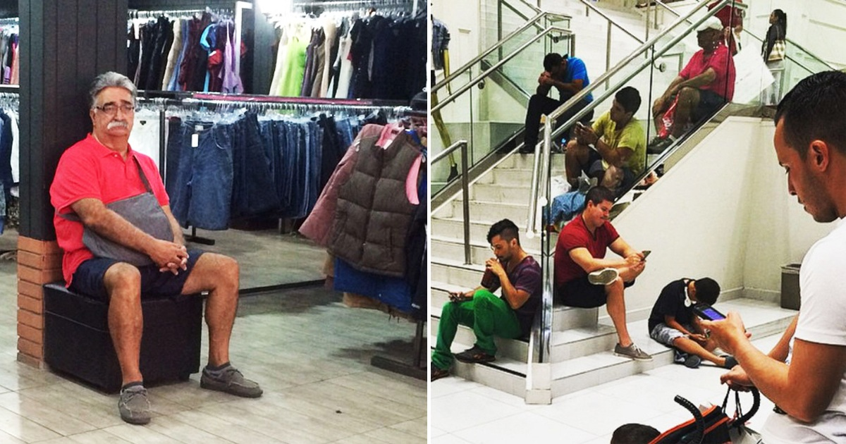 20 'Miserable Men' Who Said 'Yes' To Shopping With The Wife