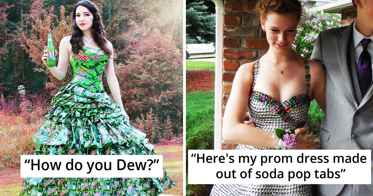 21 People Who Made Outstanding Outfits And Dresses From Trash