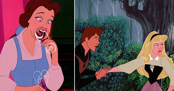 Artist Imagines Famous Disney Characters Living In 2020, And It's Hilariously Spot On