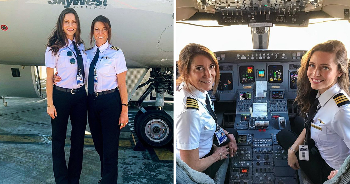Mom And Daughter Made History As First-Ever Pilot Duo To Fly A Commercial Plane Together