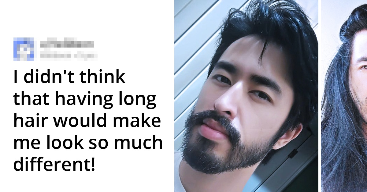 18 People Who Shared The Results From Letting Their Hair Grow Long