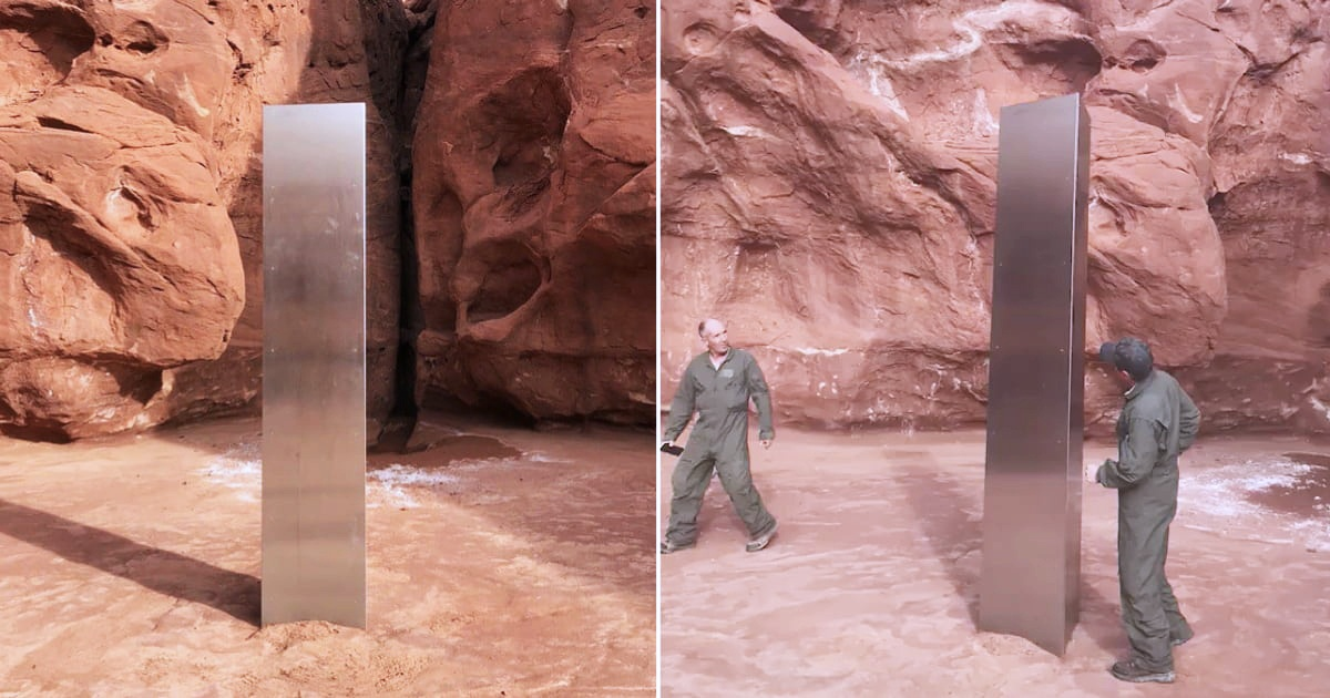 Mysterious Metal Monolith Found In The Middle Of The Desert Of Utah