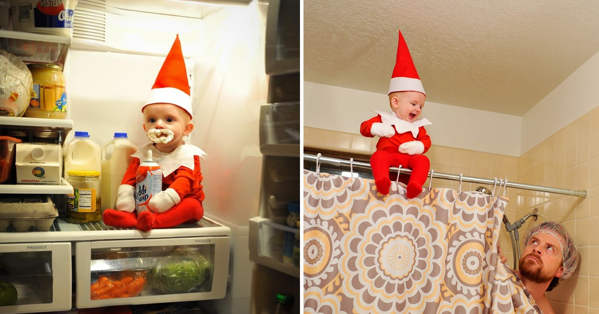 Dad Went Viral For Turning His Baby Boy Into Elf On The Shelf