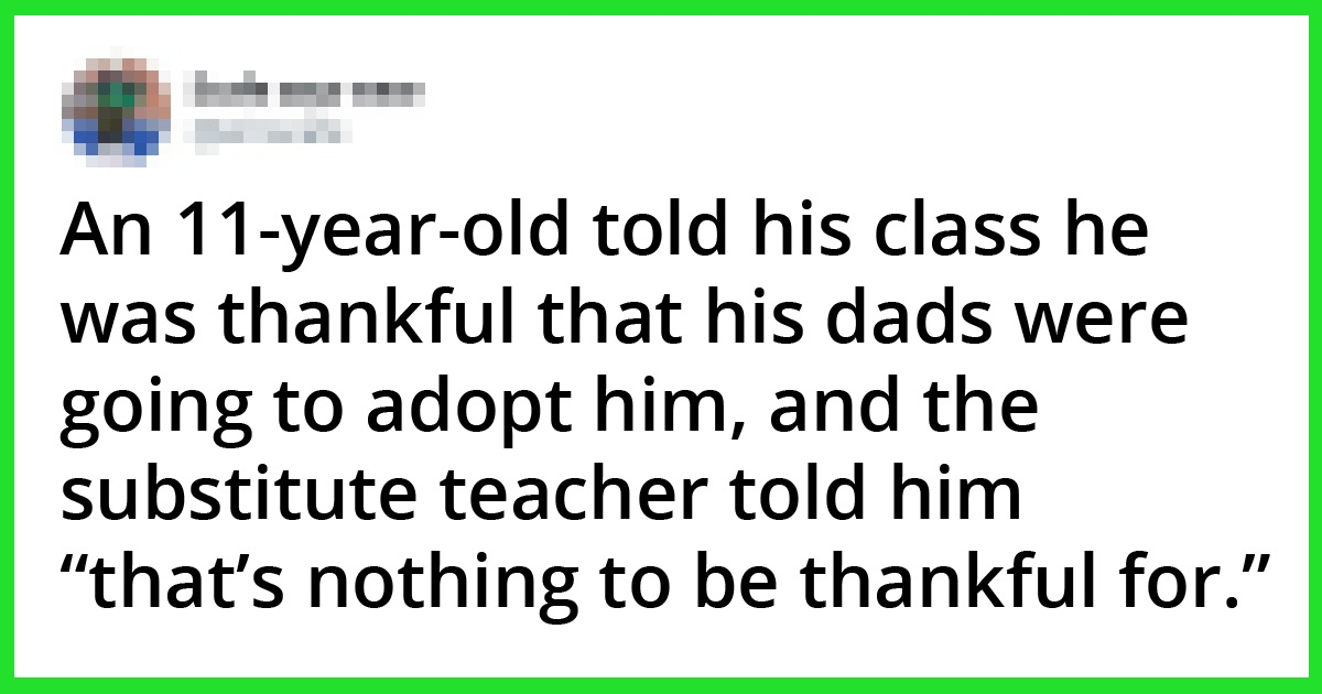 Teacher Disliked Seeing Boy, 11, Adopted By Two Dads, Got Fired By Three Girls