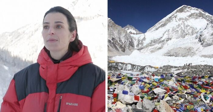 Alpinist And Her Team Takes Out 8.5 Tons Of Rubbish On Mount Everest