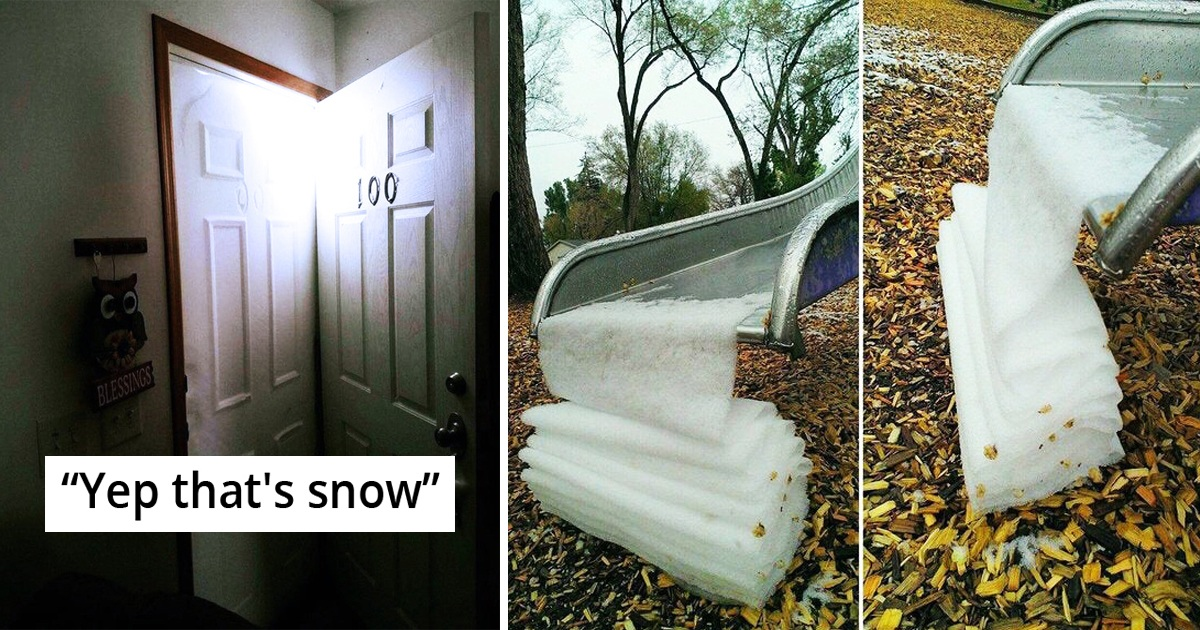 21 Oddly Satisfying Snow Pics That'll Calm You Down