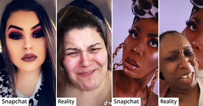 Women Show Off Their Most Glamorous Snaps Vs. What They Really Look Like In Viral Catfish Trend