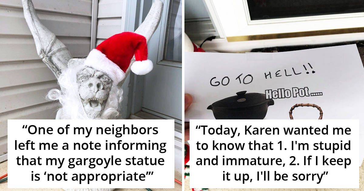 Woman Gets Notes From Her 'Karen' Neighbour Slamming Her Decorations, Hits Back By Adding More