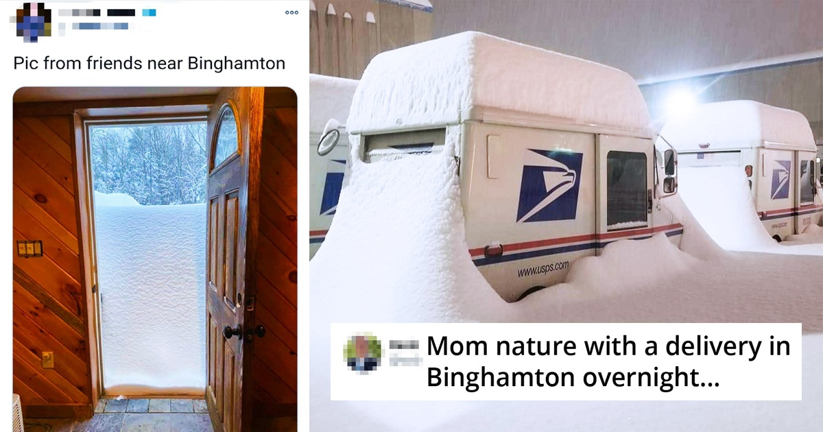 23 People Share Pics Of Insane Snow Piling Up In Binghamton, New York