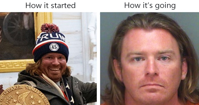 30 Capitol Rioters' 'How It Started' Vs. 'How It's Going' Pics