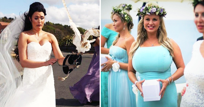 24 Times Wedding Photographers Snapped Something Hilarious