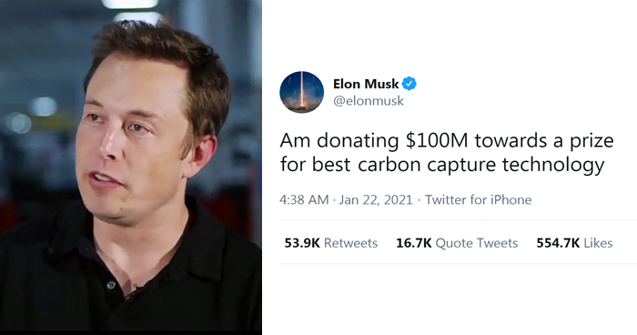 Elon Musk Offers $100M Prize For Best Carbon Capture Technology Idea