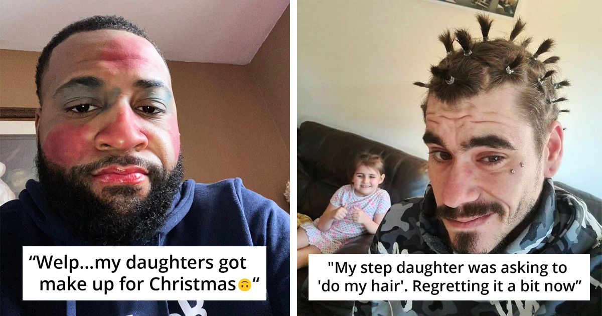 30 Dads Show Off Their Daughter's Hilarious Beauty Skills
