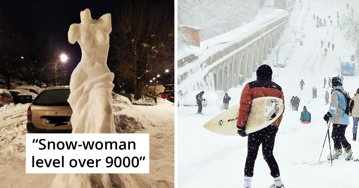 30 Unusual Pics Of Spain Experiencing Their Biggest Snowfall In Decades