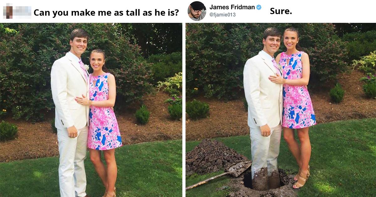 20 Times James Fridman Did Hilarious Prank Photoshop Edits On Strangers