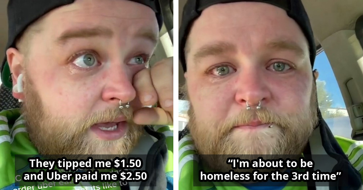 UberEats Driver On The Verge Of Homelessness Makes A Heartbreaking Plea