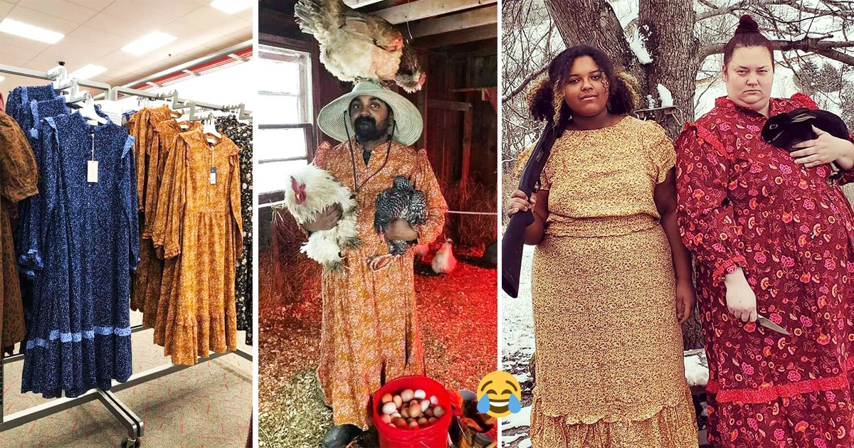 People Roast 'Target' Fashion Designers By Taking Photos Wearing Their Dresses And Its Hilarious